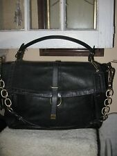 COACH NWOT 18663 $798 BLACK PEBBLE LEATHER GOLDTONE HDWRE PINNACLE EVA HANDBAG