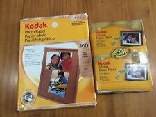 Lot of 2 Kodak Photo Paper Packs 4 x 6 & 8.5 x 11 Glossy 114 Sheets Total