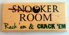 Snooker Room Plaque / Sign - Games Pool Pub Man Cave Dad Shed Sport Room 198