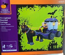 NIB~LIGHTED HAUNTED KALEIDOSCOPIC CARRIAGE INFLATABLE BLOW UP~Halloween