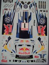 DECALS 1/24 VW POLO R  WRC - #1 - OGIER - MONTE CARLO 2015 - COLORADO  24172