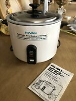White 4460 Rival Automatic Vegetable Steamer and Rice Cooker