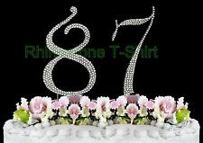 NEW Large Rhinestone  NUMBER (87) Cake Topper 87th Birthday Party Anniversary