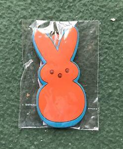 Marshmallow Peeps Orange KEY CHAIN bunny candy easter keys NEW SEALED fun