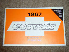 1967 Corvair Factory GM Original Owners Manual First Edition GM Part # 3901024