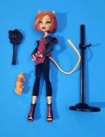 Toralei with Pet Sweet Fangs Monster High Doll 1st First Wave 2011,brush & stand