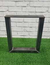2 Industrial Square Bench Legs 60 x 40 Box Section 400mm x 350mm Bare Steel