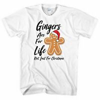 Gingers Are For Life Not Just For Christmas Tshirt Funny Men Women Xmas Red Head