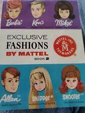 VINTAGE BARBIE EXCLUSIVE FASHIONS BY MATTEL BOOKLET #2