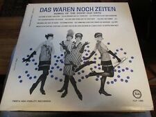 1962 DAS WAREN NOCH ZEITEN LP Fiesta FLP 1355 German VG/NM