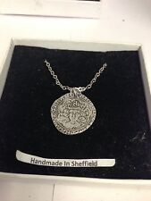 Richard III Coin WE-R3GCP Emblem on Silver Platinum Plated Necklace 18""