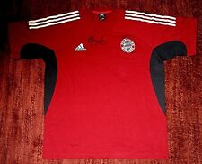* BAYERN MUNICH FC * NEW w TAGS Jersey Shirt L Adidas Signed Embroidered Logo