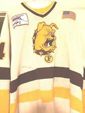 1990-91 CCHA FERRIS STATE BULLDOGS KEVIN MOORE GAME WORN HOCKEY JERSEY