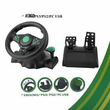 Gaming Vibration Racing Steering Car Wheel Pedals for XBOX 360 PS2 PS3 PC Hot YS