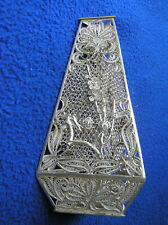 Old Chinese sterling silver filigree vase  85 g