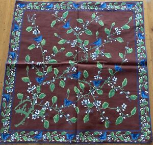 NEW April Cornell Pillow Cover 100% Cotton Birds Branches Floral INDIA