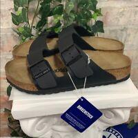 NEW Birkenstock Arizona Women's Sandals Slide Buckle Black 0051791 AUTHENTIC