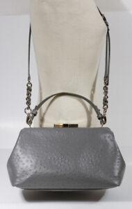 KATE SPADE GRAY CROC PRINT LEATHER HANDBAG Shoulder Bag