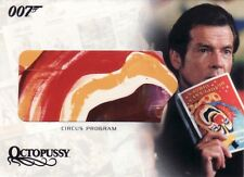 The Complete James Bond Circus Program RC5 Relic Card a