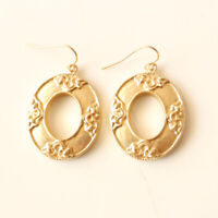 New Chicos Floral Oval Drop Earrings Gift Fashion Women Party Holiday Jewelry FS