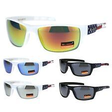 Xloop American USA Flag Arm Rectangular Warp Sunglasses