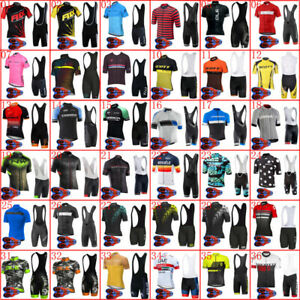 2021 Men Team cycling jersey bib shorts Set Summer Bike Outfits Bicycle Clothing