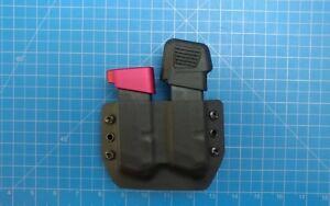 Glock 43 duel Kydex magazine Carrier black
