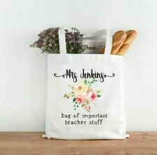 Personalised Tote Bag/Book Bag/ Important Teacher Stuff.. Thank you Gift Teacher