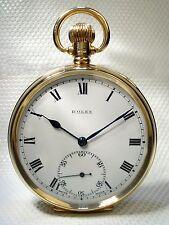 Reloj De Bolsillo Rolex Antiguo Oro Sólido Suizo – 9ct Oro – Arte Joyería 1929 Reino Unido