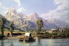 John Stobart Print - Jackson Hole: A View of the Grand Tetons in 1899