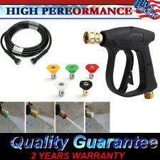 Car Wash 3000PSI High Pressure Washer Wand Gun Turbo Spray Nozzle w/ 29.5FT Hose