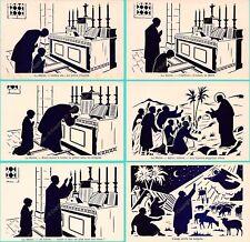 Lot 44 cpa RELIGION illustration LA MESSE Edit LA MAISON DU BON LIVRE