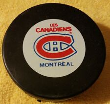 MONTREAL CANADIENS HABS VINTAGE NHL HOCKEY OFFICIAL GAME PUCK GIL STEIN CANADA