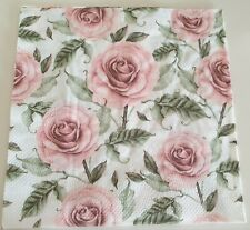 4 x Napkins for decoupage craft floral flowers roses vintage