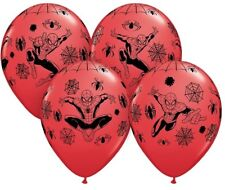 "Spiderman Superhero 12"" Balloons 6 Pack Children's Birthday Party Decorations"