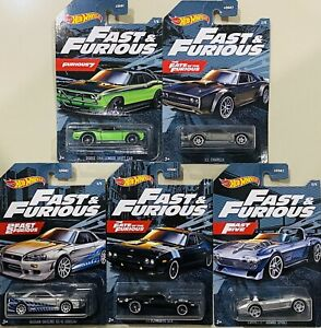 Hot Wheels Fast & Furious Set Of 5 Nissan GT-R (BNR34) Ice Charger 2021 New