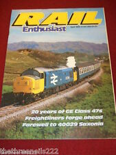 RAIL ENTHUSIAST #43 - 20 YEARS OF GE CLASS 47s - APRIL 1985
