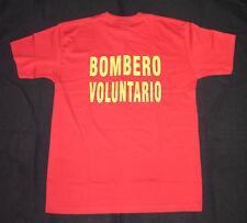 Pérou Sapeurs-Pompiers Tee-Shirt, Bomberos Del Pérou, Gr. L , Neuf, Très Rare