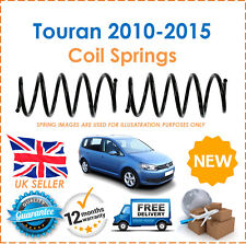 For VW Touran 1T3 1.6 TDi 2010-2015 Two Rear Suspension Coil Springs Set Pair x2