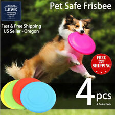 4 pcs Dog Frisbee Toy Exercise Pet Training Tools Puppy Saucer Flying Disc New