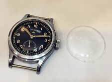 Lemania  Dirty Dozen Military WW2 /|  Watch Plastic Crystal Perfectly Fit !