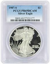 1987-S American Silver Eagle Dollar PR69DCAM PCGS Proof 69 Deep Cameo
