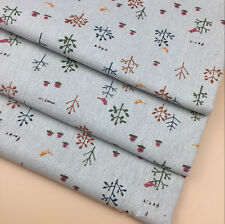 50x150cm Cotton Linen Fabric DIY Craft Material Small Tree Branch Flower Bird F