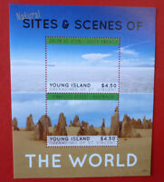 2013 St VINCENT SITES & SCENES OF THE WORLD YOUNG ISLAND STAMP MINI SHEET