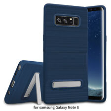 For Samsung Galaxy Note 8 Slim Brushed Hybrid Shockproof Armor Soft Cover Case