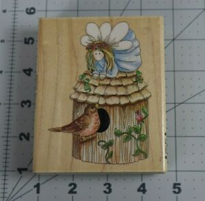 Stamps Happen Inc. Wood Mounted Rubber Stamp - SPARROW - #80103 Fairy