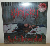 VOMITORY - RAPED IN THEIR OWN BLOOD - CRYSTAL CLEAR/RED SPLATTER - ONLY 100 - LP