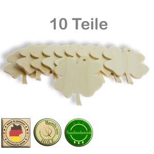 Kleeblatt Streudeko Deko Holz Anhänger Natur Glücksbringer Sylvester Birke 3mm