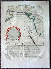 1696 Coronelli Old, Antique Map, Globe Gore, India, Pakistan, Iran, Persian Gulf