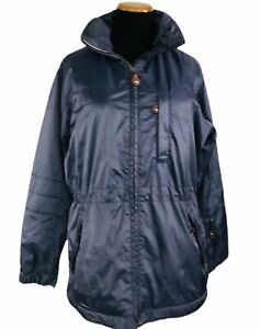 Post Card Womens Winter Ski Parka Jacket Coat Size 6 Made In Italy Purple
